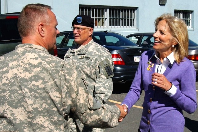 Jill Biden visits Guard Soldiers