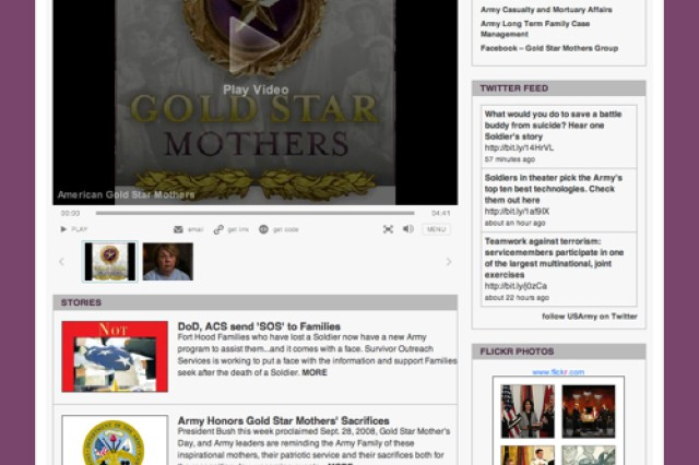 Gold Star Mothers screen shot for CORE blog