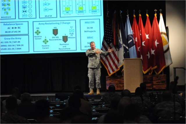 """Gen.  Charles Campbell, Commanding General of U.S. Army Forces Command, discussed the two """"great epiphanies"""" of the Army after the Iraq War during day two of the Infantry Warfighting Conference."""