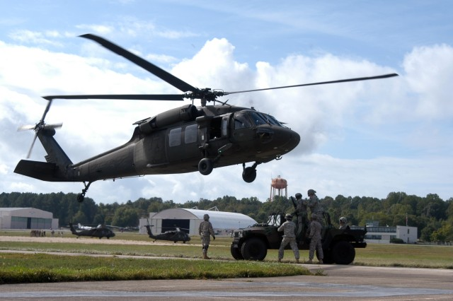 529th RSC conducts sling load operations