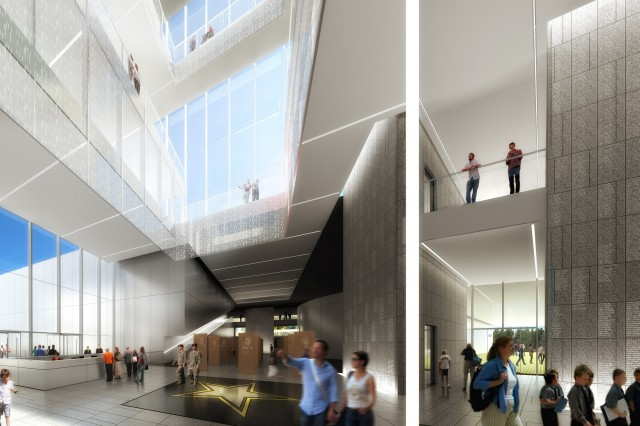 A new conceptual rendering released recently shows the lobby of the National Museum of the U.S. Army.