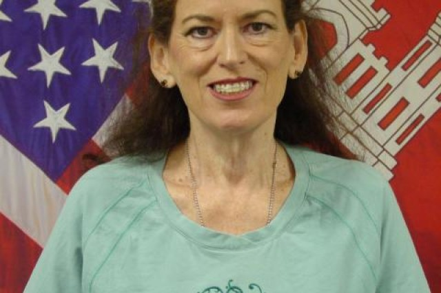 Pat Riley's pre-deployment photo, before she left for her six-month assignment as a realty specialist for the U.S. Army Corps of Engineers Gulf Region Division in Iraq.