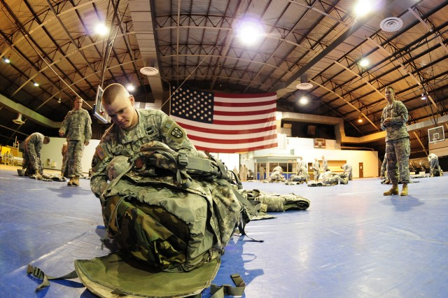 Staff Sgt. Butler packs equimpent