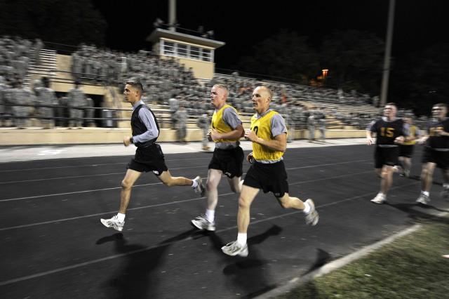 Staff Sgt. Butler runs