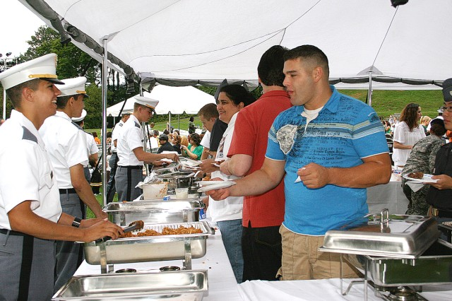 West Point cadets and community members sampled various Hispanic foods from Peru, Mexico, Colombia and Cuba at the Hispanic Festival Sept. 18 at Trophy Point.
