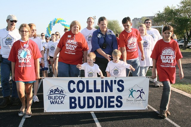 Collin's Buddies was one of many teams formed to support individuals with Down syndrome that walked the one-mile loop around the BG Johnson Track at Fort Sam Houston on Sept. 26.