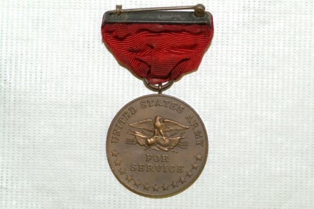 Indian Wars Service Medal Reverse Side