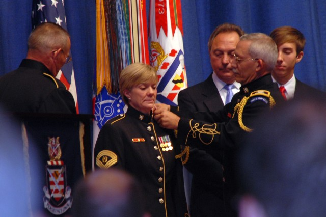 Pershing's Own band receives first female CSM