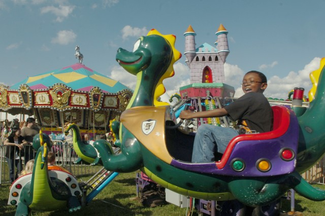 Rides for the young and old filled the grounds of the Fremont Field during Oktoberfest.