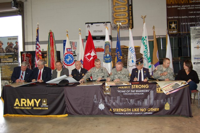 The community covenant was signed by officials of Kankakee, Bradley and Bourbonnais to foster partnerships with the Army to improve the quality of life for soldiers and their families.