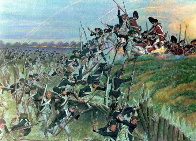 Assault on Redoubt 10 at Yorktown.