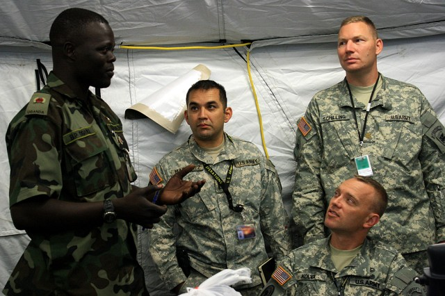 U.S. and African military officers prepare for exercise Natural Fire 10