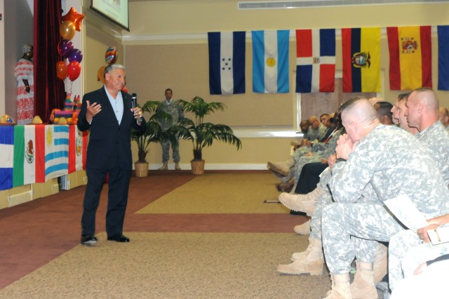 Maj. Gen. (Ret.) Alfred A. Valenzuela, a 33-year veteran, former 3rd ID deputy commander (Support), and author, was the guest speaker for the Hispanic Heritage celebration at Fort Stewart's Main Post Chapel, Oct. 8.