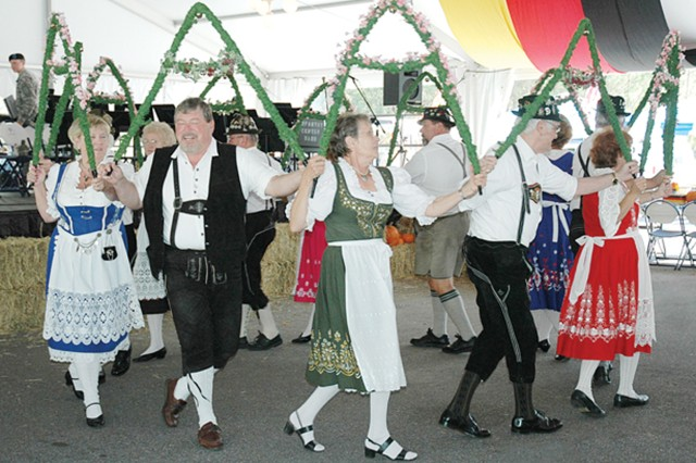 The Gootman Band and Dancers perform a traditional German dance during last year's Oktoberfest at Uchee Creek. The group will perform today and Saturday.  To find out specific show times, visit www.benningmwr.com.