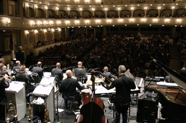 The Jazz Ambassadors--America's Big Band performed at Fort Worth's legendary Bass Performance Hall on Oct. 13. Playing three concerts in one day, this 19-member ensemble packed the house, entertaining nearly 5,000 concert goers that day.