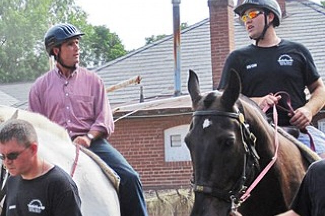 Injured Soldiers Attend Weekly Riding Sessions