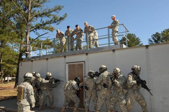 CSA observes training