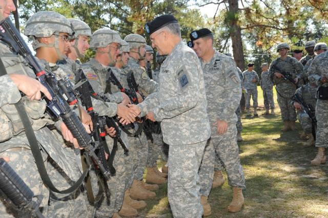 CSA visits Fort Benning