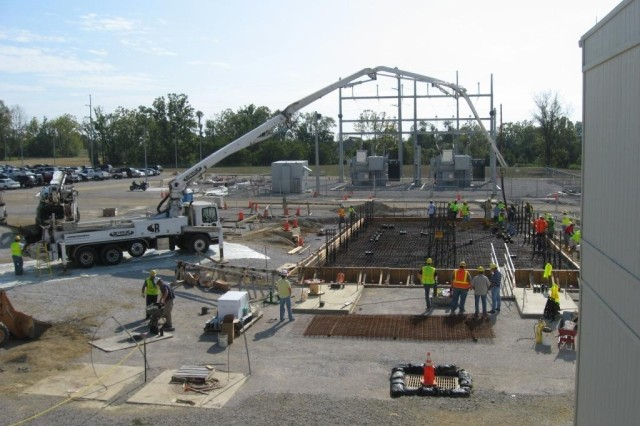 Foundation is placed for the Utility Power Center, part of the Blue Grass Chemical Agent-Destruction Pilot Plants electrical distribution system.