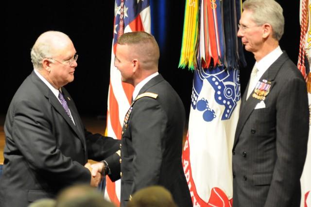 Under secretary congratulates current commander