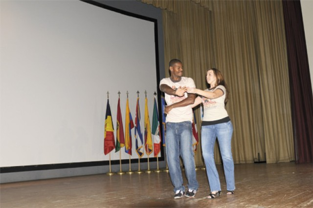 Dancers demonstrate traditional Latin dances to include Salsa, Merengue and Bachata.