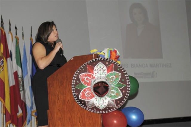 Guest speaker Bianca Martinez, News Channel 3, shares her personal account on what it is like to be a Hispanic American.