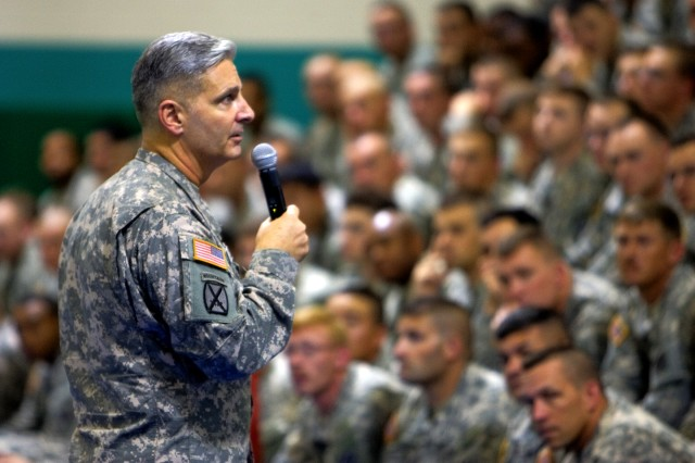 Commanding General gives praise and expectations to Spartan BDE