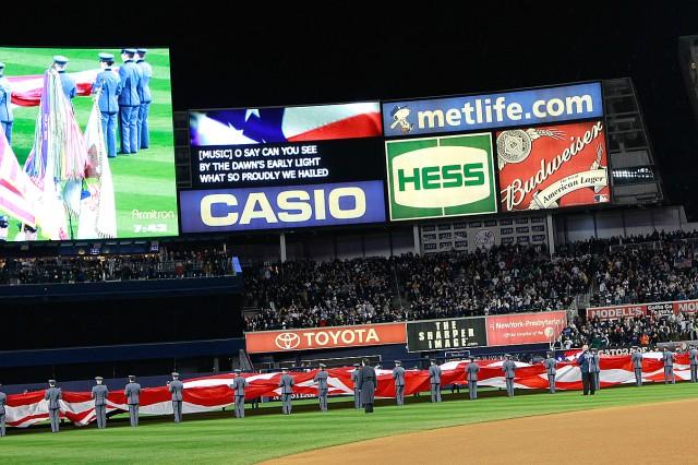 Cadets help kickoff American League Championship Series