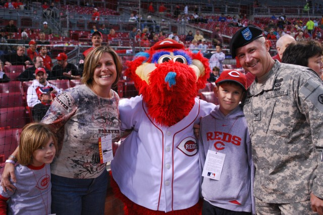 Sustainer throws first pitch at Reds Game