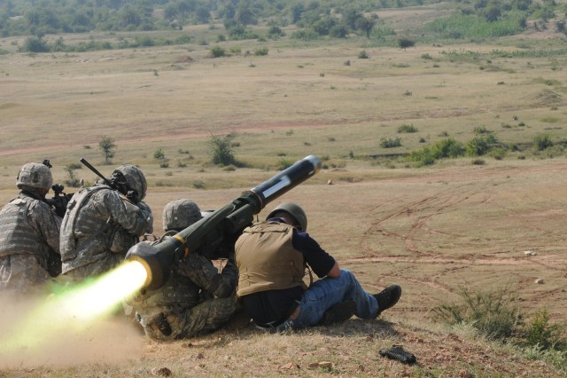 Combined Arms live fire during Exercise Yudh Abhyas 09 in India