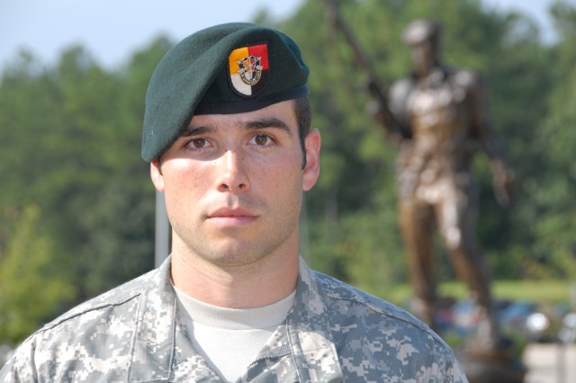 Staff Sgt. John Wayne Walding, ODA 3336, C Co., 3rd Bn., 3rd SFG.  Silver Star recipient