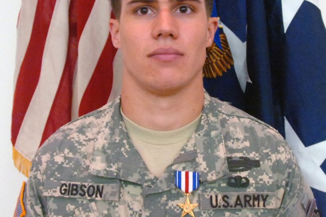 Spc. Gibson saved a Soldier's life by assisting in a medical evacuation.