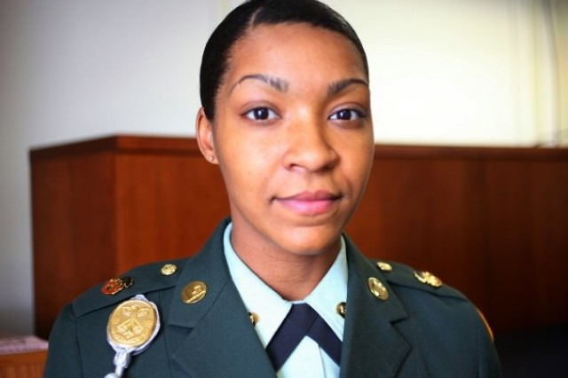 Spc. Latrisha Ann Howard Robinson, of the 2nd Battalion 6th Air Defense Artillery, 31st ADA Brigade, was named the Soldier of the Quarter for Fort Sill, Okla.