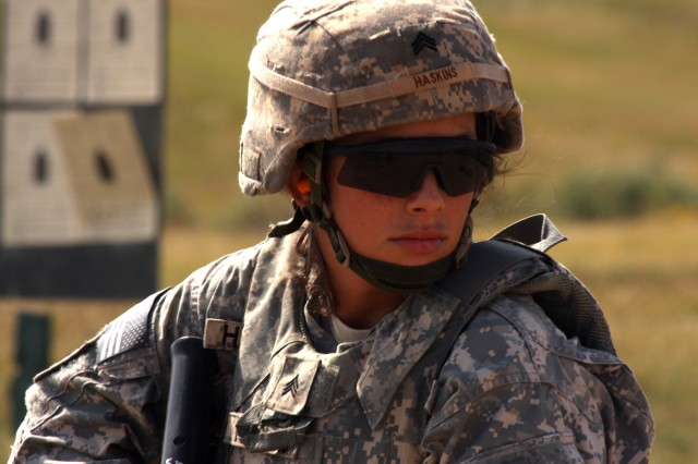Sgt. Sarah Haskins, a signal analyst with the 1st Space Battalion, is the U.S. Army Space and Missile Defense Command/Army Forces Strategic Command 2009 Noncommissioned Officer of the Year.