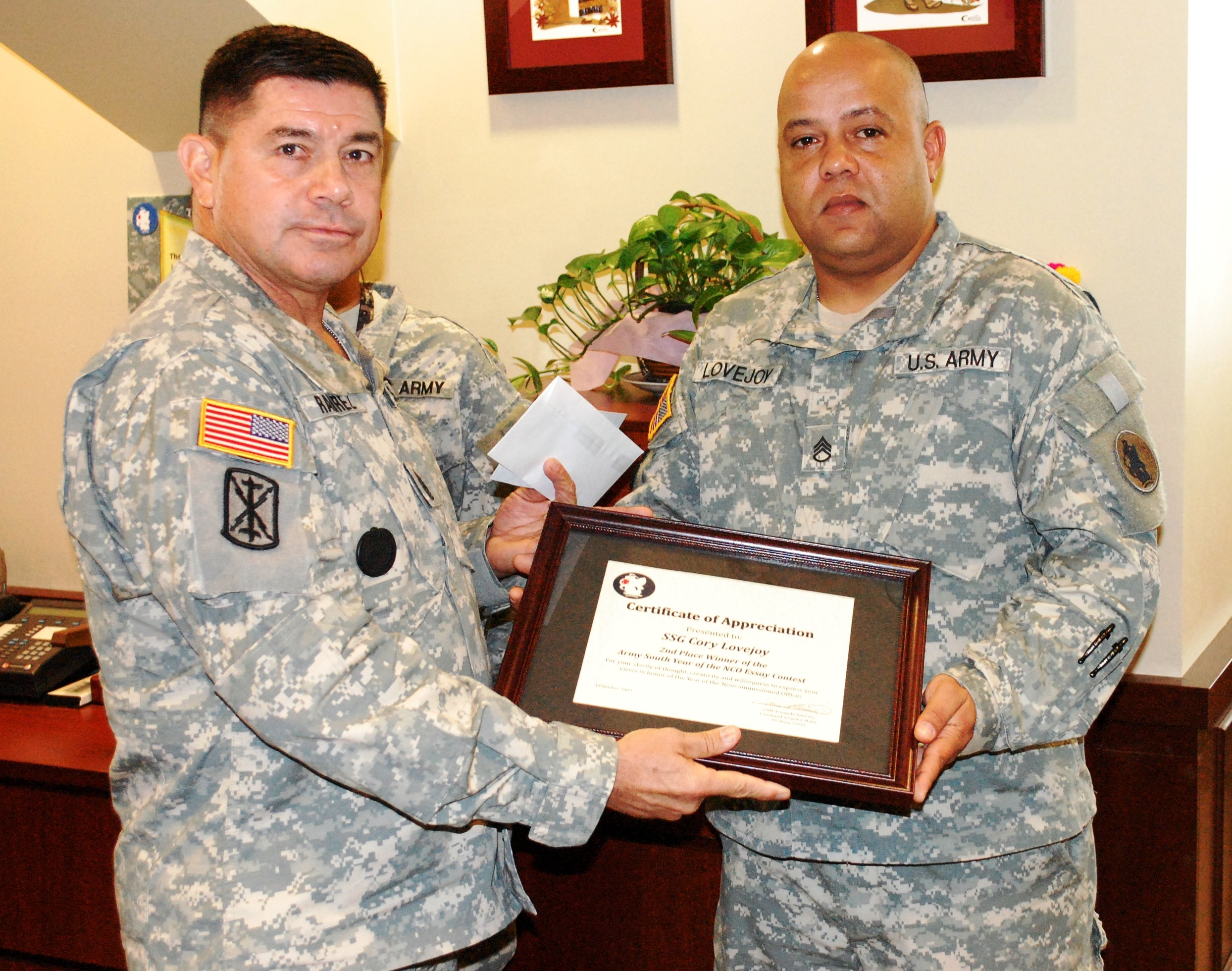 u s south s year of the nco essay article the united  armando ramirez for his year of the nco essay photo credit sgm rick black u s south public affairs