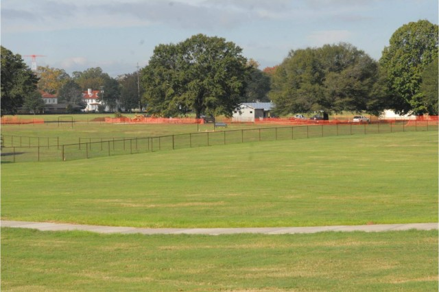 The recreation complex will include a new dog park on a five-acre lot with bench swings and a pavilion.