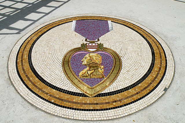Purple Heart Mosaic
