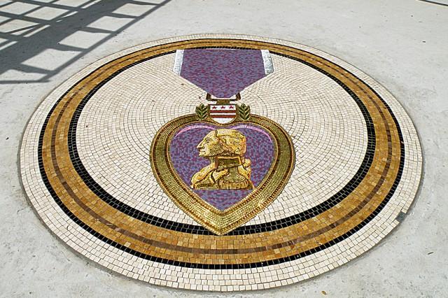 Purple Heart Mosaic