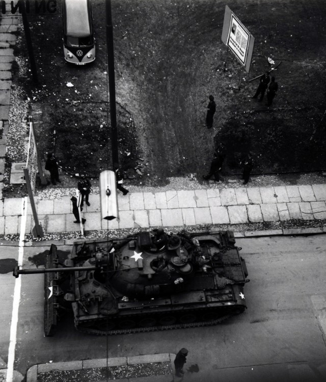 Tensions ran high at Checkpoint Charlie in 1961 as Easterners fled to West, Berlin Wall went up