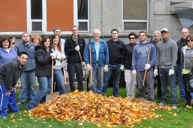 The U.S. Army Garrison, Natick, held its fall clean up on Oct. 30, 2009.