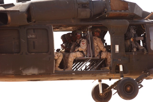 Air assault mission joints U.S. forces from Hawaii, Kansas, Iraq