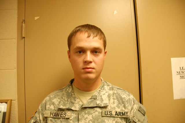 Staff Sgt. John Hawes is currently assigned to Fort Jackson's 4th Battalion, 10th Infantry Regiment.