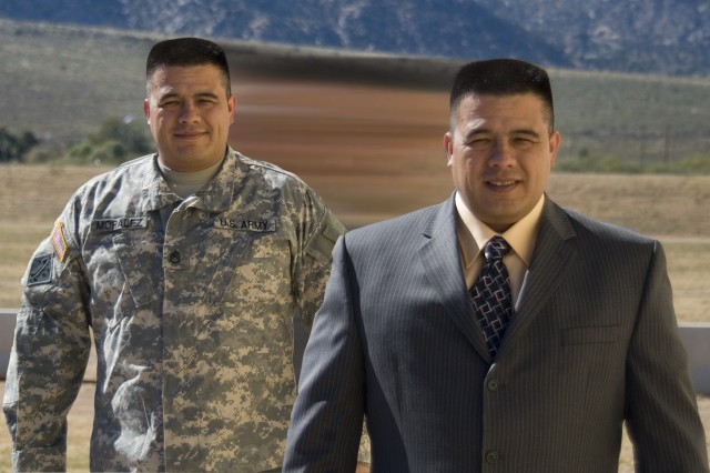 Former Staff Sgt. Anthony Moralez was placed in a civilian position at White Sands Missile Range thanks to the Wounded Warrior Co-Op Program.
