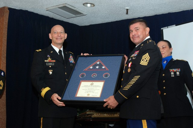 Army South command sergeant major retirement ceremony
