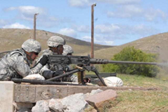 Machine Gun Training