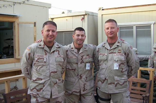 Lt. Col. Greg Younger on the left.