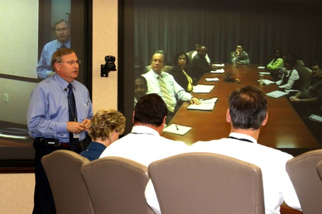 Dr. Steven L. Messervy, deputy to the commander for Research, Development and Acquisition, U.S. Army Space and Missile Defense Command/Army Forces Strategic Command, hosted a Town Hall meeting Nov. 9 to discuss the recent implementation of the RDA reorganization and personnel concerns.