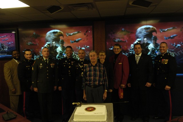 The Marines of JFHQ-NCR celebrate the 234th Birthday of the United States Marine Corps.
