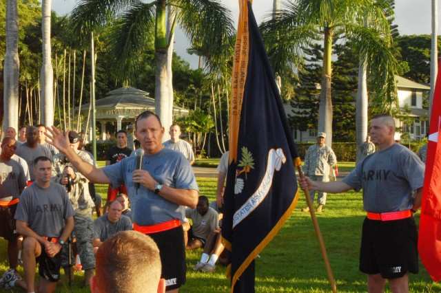 USARPAC CG talks safety after quarterly 'One Team' run