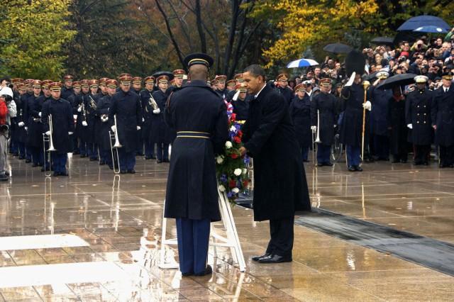 Obama at Arlington on Veterans Day